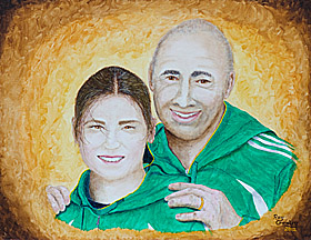 Katie Taylor and her Dad Pete.